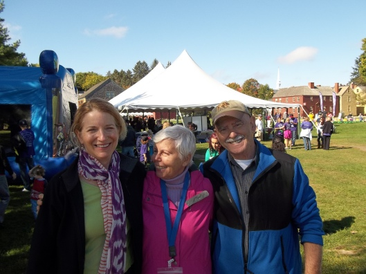 Paula with Alzheimer's Cafe attendees at a recent Alzheimer's Walk