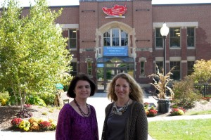 Children's Museum of NH President Jane Bard and Vice President Paula Rais