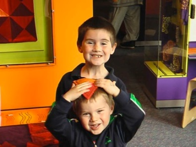 My sons, age 2 and 6, at the Boston's Children's Museum.