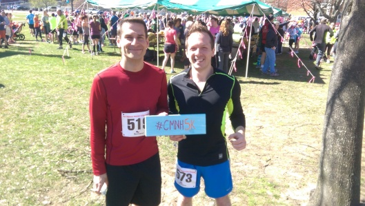 Two local runners who run the CMNH 5K every year!