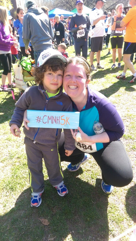 These two long time CMNH members both participated on race day; 5K for Mom and Fun Run for Son!